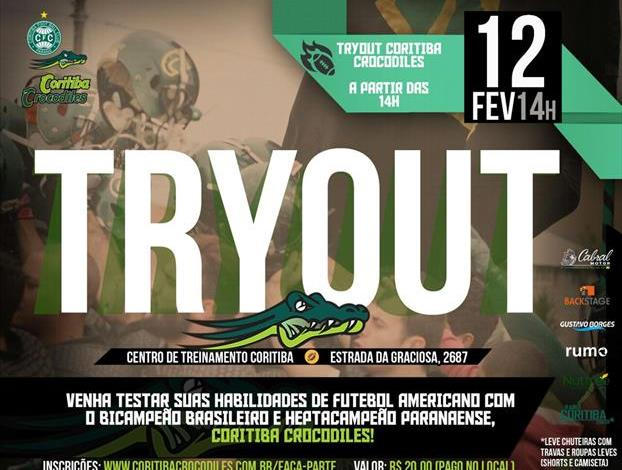 Crocodiles vai realizar tryout no CT do Coritiba