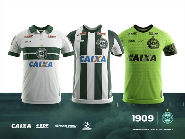 Novas camisas do Coritiba